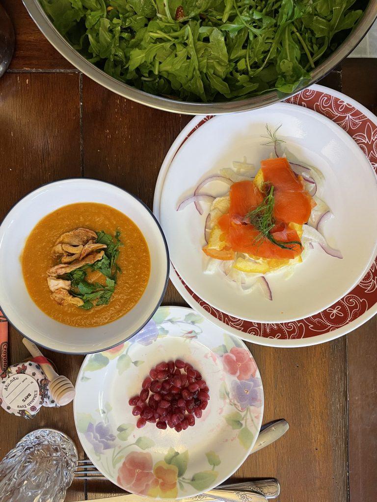 Rosh Hashanah Soup & Salad